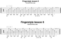 Fingerstyle lessons 5-6