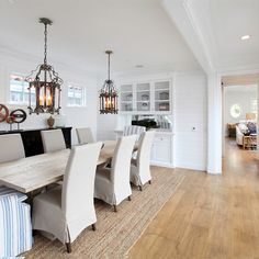 hamptons interior design style | Hamptons style custom home located on Lido Island in Newport Beach.