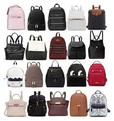 """""""My favourite backpacks"""" by hernameiskai on Polyvore featuring MICHAEL Michael Kors, Givenchy, Dolce&Gabbana, Yves Saint Laurent, Valentino, Marc Jacobs, Michael Kors, Kate Spade, Ted Baker and Longchamp"""