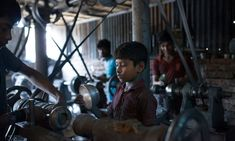 If child labour was wrong in the London of the what makes it right in the Dhaka of the Above, children working at an aluminium utensils factory in Dhaka, Bangladesh. Slums, Persecution, Working With Children, The Guardian, Child Labour, Business, Pictures, Masks, Safety
