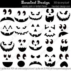 Awesome idea for pumpkin carving event or party.  25 jack-o-lantern templates all in pdf form for groups to print out.