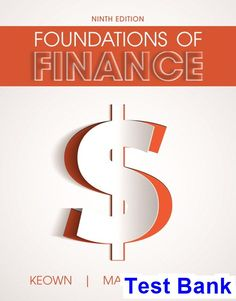 48 best test bank download images on pinterest banks manual and test bank for foundations of finance 9th edition by keown ibsn 9780134408385 fandeluxe Gallery
