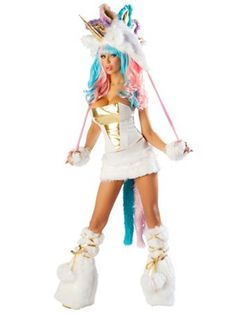 Women's Sexy Unicorn Corset & Skirt Costume | Sexy Animals Halloween Costumes
