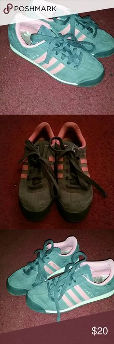 Pink & Gray SAMOA ADIDAS pink & gray, they have been worn quite a few times but they are a great fit and still look new. perfect for you if you are into an older look. you'll look GREAT! adidas Shoes Sneakers