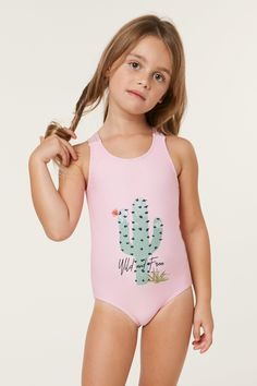 O'Neill Little Girl's one piece swimsuit Back keyhole Full coverage Center cactus graphic, allover print on back Polyamide / Elastane Preteen Girls Fashion, Big Girl Fashion, Cute Young Girl, Cute Little Girls, Adorable Petite Fille, Little Girl Bikini, Toddler Swimsuits, Girls One Piece Swimsuit, Cheerleading Outfits