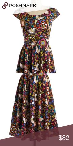"""""""That's all, folksy"""" dress by retrolicious Excellent used condition size medium ModCloth Dresses"""