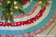 Tree skirt. i would want green instead of turquoise.