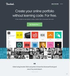 Create A Free Online Portfolio Website   Dunked