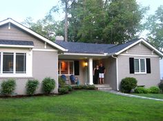 Ranch style home paint ideas architecture ranch house exterior colors comfy color schemes for style homes paint ideas pertaining to Painted Brick House, Ranch House, Ranch House Exterior, House Exterior, Brick Ranch, House Painting, Painting Trim White, Ranch Style Home