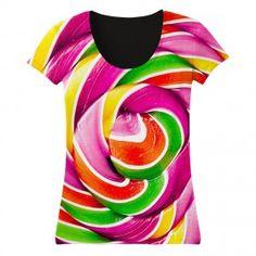 Women's Circle Candy Full-printed T-shirt WT020 http://www.amolover.com/womens/t-shirt-84/women-'s-circle-candy-full-printed-t-shirt-wt020
