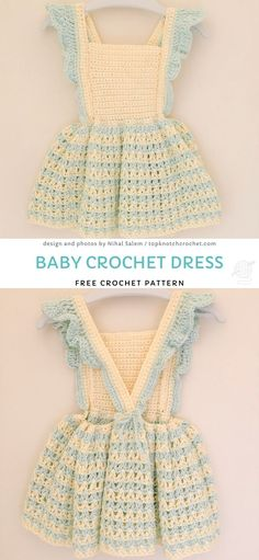 A little dress is the most charming thing you can ever crochet. It's tiny, cute and fits every baby girl. It doesn't really matter what is the season - girls Crochet Toddler Dress, Crochet Girls Dress Pattern, Toddler Dress Patterns, Baby Girl Crochet, Crochet Baby Clothes, Crochet For Kids, Crochet Patterns, Crochet Dresses, Crochet Baby Outfits