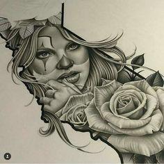Chicano Arte More Mehr Chicano Art Tattoos, Chicano Drawings, Body Art Tattoos, Girl Tattoos, Sleeve Tattoos, Chicanas Tattoo, Tatoo Art, Tattoo Sketches, Tattoo Drawings