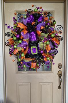 Halloween Craft: Lace Wreath- Use this concept to make any holiday wreath and just change up the colors. Description from pinterest.com. I searched for this on bing.com/images