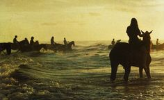 Horse back in the ocean!!! Yes, please!!!!
