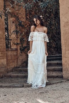"boho off-shoulder wedding dress by Grace Loves Lace Pinner ""Icon"" – the New Bridal Collection by Gra Off Shoulder Wedding Dress, Lace Wedding Dress, Bohemian Wedding Dresses, Dream Wedding Dresses, Bridal Dresses, Wedding Gowns, Wedding Blog, Wedding Ideas, Grace Loves Lace"