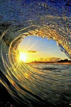 Wave and sunset ♥