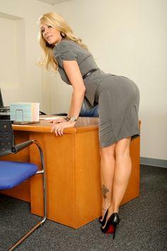 heels skirt milf High