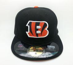 CINCINNATI BENGALS NFL ON FIELD NEW ERA 59 FIFTY FITTED HAT/CAP (SIZE 8) -- NEW #NEWERA59FIFTY #CincinnatiBengals