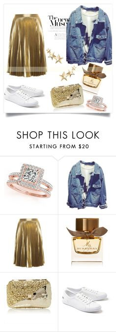 """gold"" by victoria-yarova on Polyvore featuring мода, Allurez, A.L.C., Burberry, Anndra Neen, Lacoste и Kenneth Jay Lane"