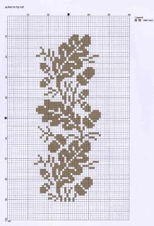 cross stitch acorns & leaves (all one color)