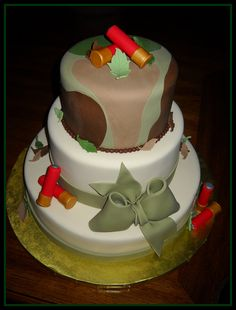 Hunting Theme Wedding Cake by It's All About the Cake, via Flickr