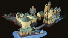 'Harry Potter' superfan builds incredible Hogwarts model with LEGO pieces. Seattle based builder, Alice Finch spent 12 months building an incredible 170 square foot Lego replica of Hogwarts Castle. Lego Harry Potter, Harry Potter Hogwarts, Harry Potter Films, Lego Hogwarts, Chateau Harry Potter, Chateau Lego, Lego Burg, Fans D'harry Potter, Potter Facts