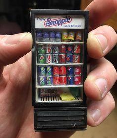 """21 """"Μου αρέσει!"""", 1 σχόλια - Miniatures & Dioramas (@dioramas.daily) στο Instagram: """"#repost by @what_thehell ------ Head on shot of newsstand fridge. I had to replace the """"glass"""" in…"""""""