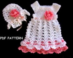 Crochet Dress Pattern Crochet Baby Dress por KitsHandmadebyYou
