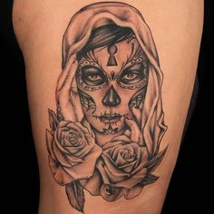 """Check out this high res photo of Jackie """"Ink Bitch"""" Jennings's tattoo from the Day Of The Dead episode of Ink Master on Spike.com."""