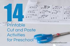 Cut and Paste printable cut and paste activities for preschool. From color sorting and shape matching to number order and beginning letter sounds, there are printables for any preschool level.