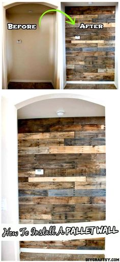 DIY Accent Wooden Pallet Wall Tutorial - 150 Best DIY Pallet Projects and Pallet Furniture Crafts - Page 27 of 75 - DIY & Crafts