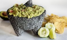 Guacamole de Molcajete -  With crystals of TSTE Himalayan Granules Mineral Salt, a grind of TSTE 4 Peppercorn Spice Blend, and creamy avocados, this guacamole is a tasty appetizer or snack! Impress your guests by preparing and serving this guacamole table side in the molcajete!