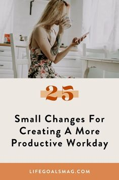 When it comes to living a balanced life, we'd all like to work smarter rather than harder. By working smarter, we're able to have more energy and time to dedicate to all aspects of our life. Here is a list of 25 ideas for having a more productive day at work, filled with time management strategies for creating your ideal work routine. Pomodoro Method, Time Management Strategies, Evening Routine, Balanced Life, Life Goals, Career Goals, Productive Day, Productivity Hacks, Small Changes