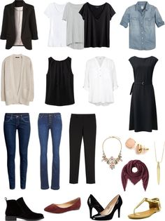 How to create a mix and match capsule wardrobe - I love this so much. I love the idea of simplifying my closet!