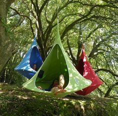 Cacoon; a cool hanging haven from hang-in-out  www.hang-in-out.com  The Cacoon from hang-in-out is a swing chair, a hammock, a hanging garden seat all rolled into one. The coolest hanging haven for grown ups and a fantastic place for kids