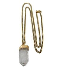 Lacey Ryan Healing Crystal Necklace (€65) ❤ liked on Polyvore featuring jewelry, necklaces, accessories, fillers, pendants, crystal jewellery, chains jewelry, crystal necklace, crystal chain necklace and crystal pendant