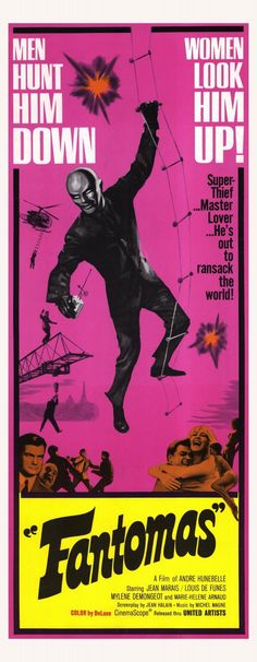 1964 saw swashbuckling thief Fantomas resurrected in an attempt to create a James Bond-ish franchise.