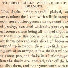 To Dress Ducks with Juice of Orange 1828