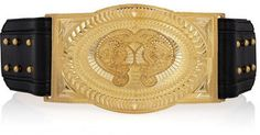 ShopStyle: Balmain Metal and leather belt