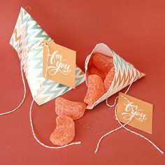 sewn up candy pouch