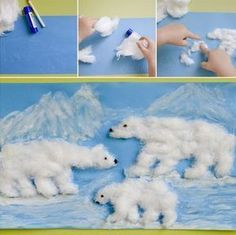 Crafts and games for children - Weihnachten - Winter Art Projects, Winter Crafts For Kids, Winter Kids, Projects For Kids, Art For Kids, Winter Activities, Art Activities, Animal Crafts, Elementary Art