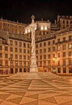 Municipality Square, Lisbon, Portugal