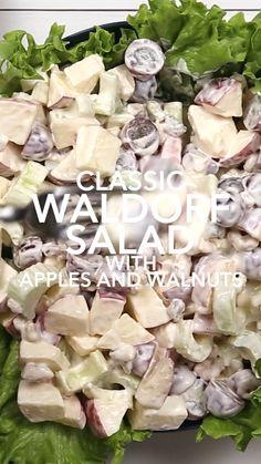 Celery Recipes, Apple Salad Recipes, Grape Recipes, Salad Recipes Video, Chicken Salad Recipes, Healthy Salad Recipes, Apple Grape Salad Recipe, Apple Celery Salad, Chicken Salad With Apples