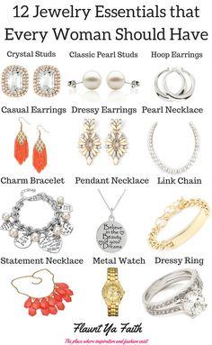 12 Jewelry Essentials for Women