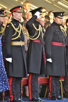 dailymail:  The Duke of Cambridge saluted at the special performance of Beating Retreat which took place at Horse Guards in Whitehall, June 12, 2014