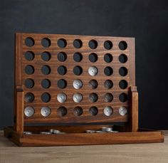 Wood and aluminum connect four