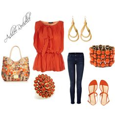 Orange Blossom, created by ashlee470 on Polyvore
