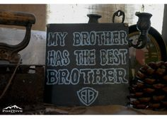 My brother has the best brother Home Quotes And Sayings, Family Quotes, Art Quotes, Wooden Signs, Chalkboard Quotes, Home And Family, Brother, Hand Painted, Good Things