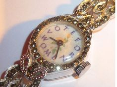 Vintage Ladies Marcasite Suffragette Wrist Watch by martonmere Oh my, how I want this watch...