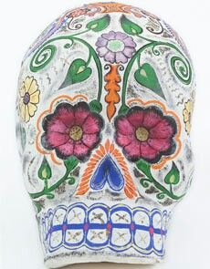 Mexican papier mbchi skulll for the Days of the Dead